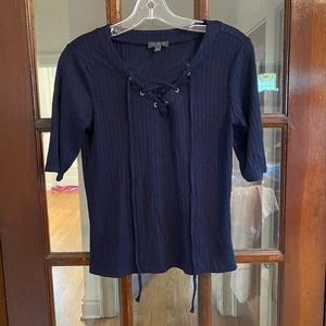 Lace-up front shirt